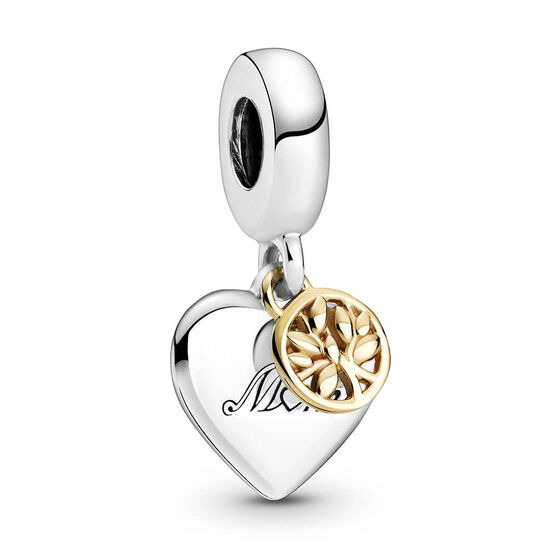 Pandora Two-tone Family Tree & Heart Dangle Charm