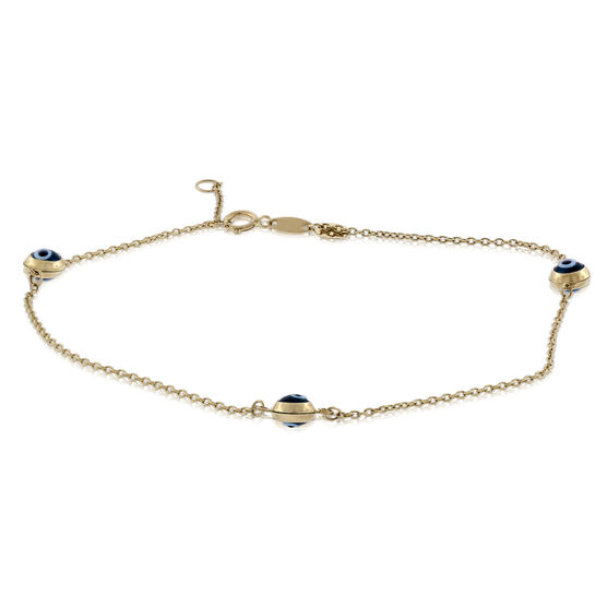 Eye of Protection Anklet 14K