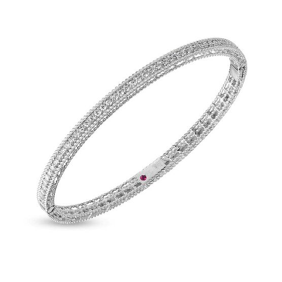 Roberto Coin Symphony Princess Diamond Bangle 18K