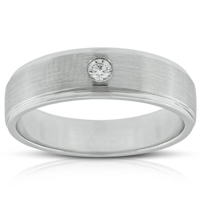 Men's Diamond Wedding Band 14K