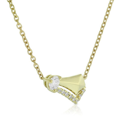 Jade Trau for Signature Forevermark Diamond Necklace 18K