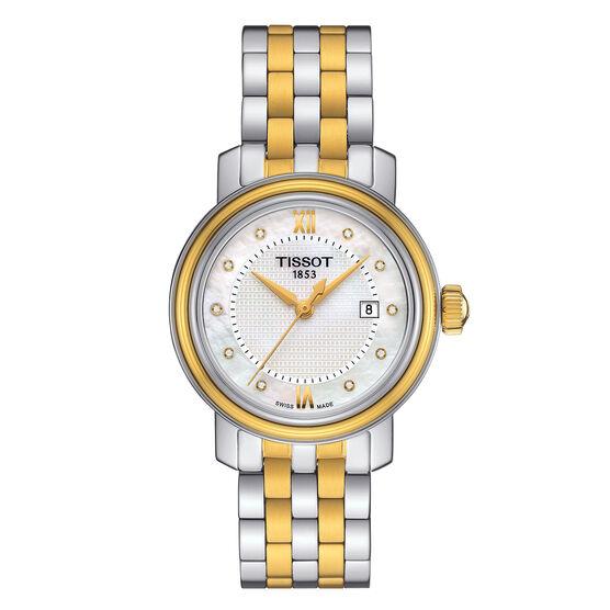 Tissot Bridgeport Mother of Pearl Diamond Dial  Watch, 29mm