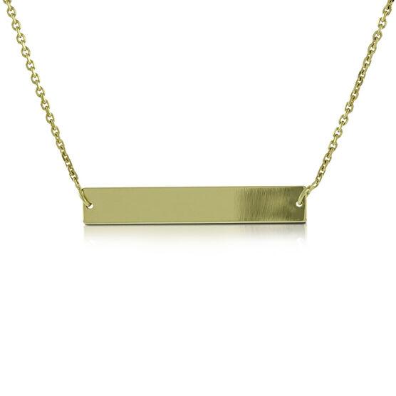 Choker Bar Necklace 14K
