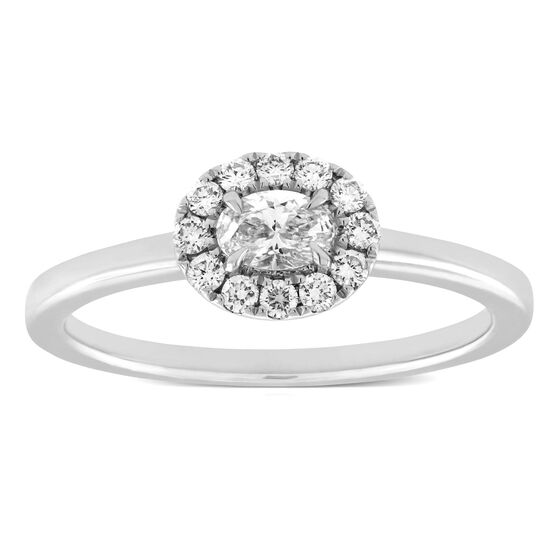 Forevermark Oval Diamond Halo Ring 18K