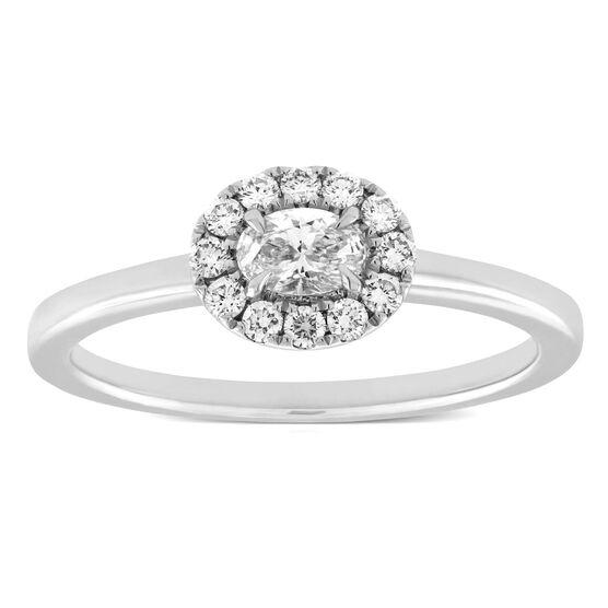 Forevermark Oval Diamond Halo Ring 18K