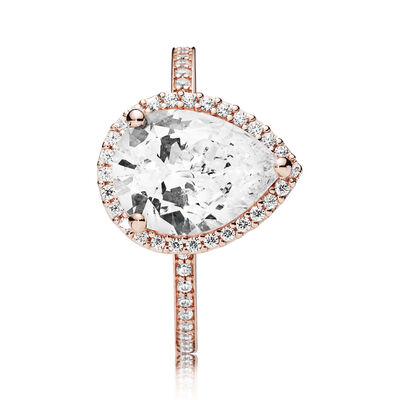 PANDORA Rose™ Radiant Teardrop CZ Ring