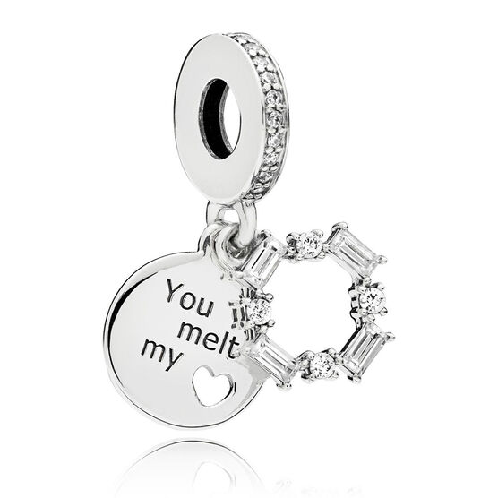 Pandora Ice Carving CZ Dangle Charm