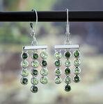 Lisa Bridge Bezel Set Peridot & Tourmaline Earrings