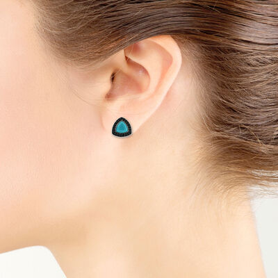 Lisa Bridge Turquoise & Black Sapphire Earrings