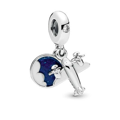 Pandora Propeller Plane Dangle CZ Charm