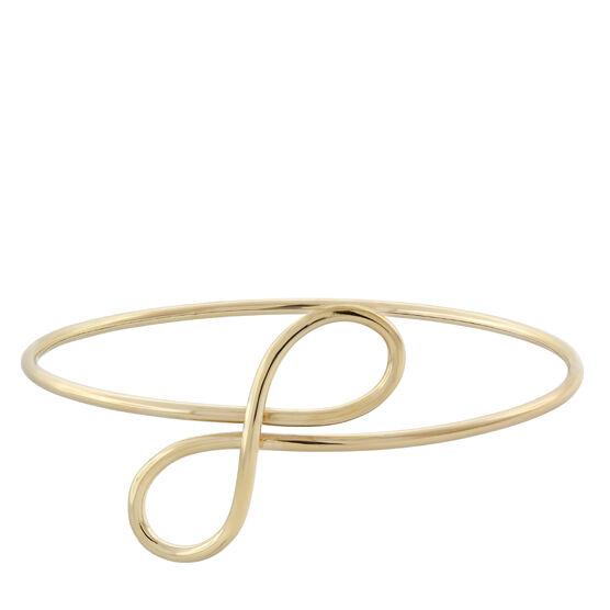 Toscano Double Loop Bangle 18K