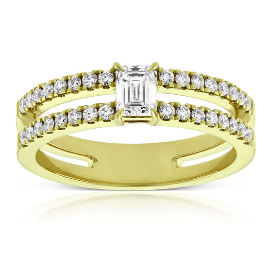 Forevermark Emerald Cut Diamond Ring 18K