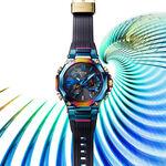 G-Shock MT-G Blue Phoenix Rainbow IP Steel Solar Watch, 55.1mm