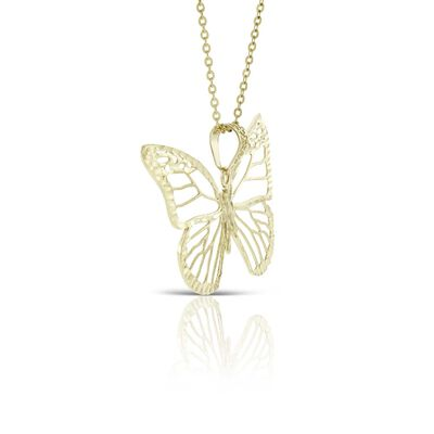 Toscano Butterfly Necklace 14K