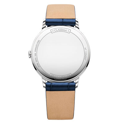 Baume & Mercier CLASSIMA Blue Strap Watch  36.5mm