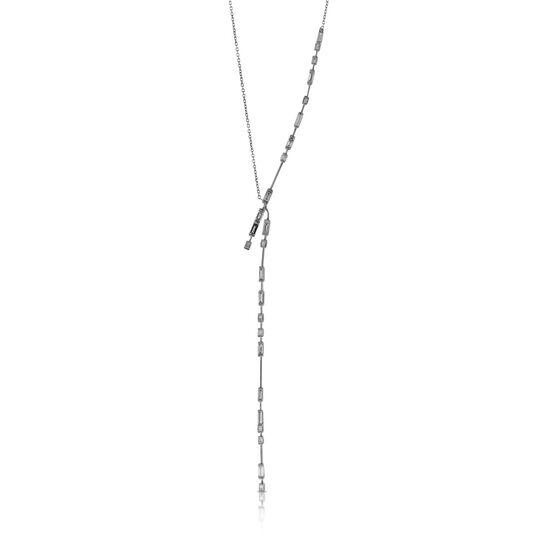 ICE FALL Baguette Cut Diamond Necklace 14K