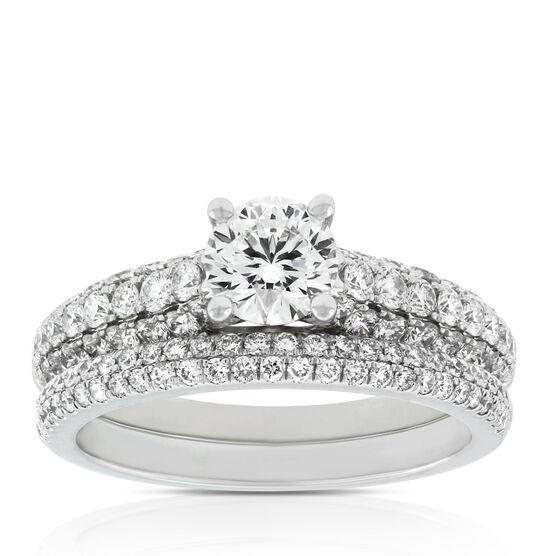 Signature Forevermark Diamond Pavé Bridal Set 18K