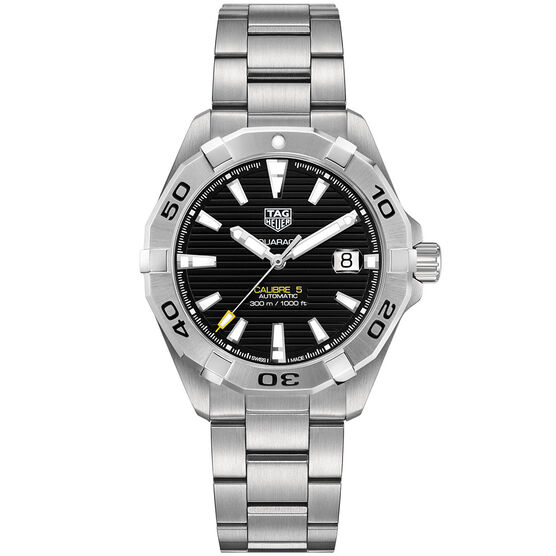 TAG Heuer Aquaracer Black Dial Automatic Caliber 5 Watch