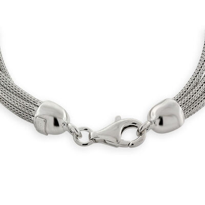 Strand Mesh Necklace in Sterling Silver, 18""