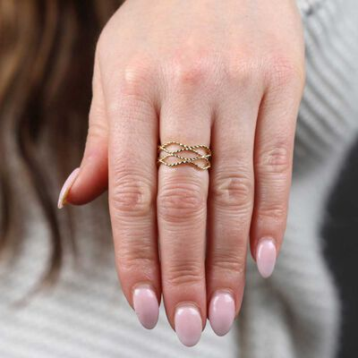 Toscano Rope Waves Ring 14K