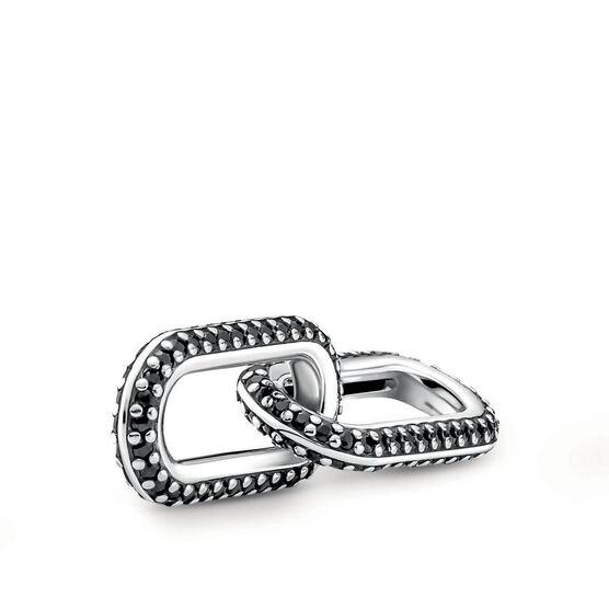 Pandora ME Styling Black Pavé Crystal Double Link