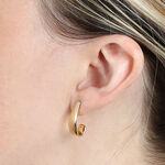 "Medium ""J"" Hoop Earrings 14K"