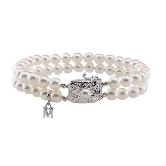 Mikimoto Akoya Cultured Pearl Double Bracelet 6mm, A1, 18K
