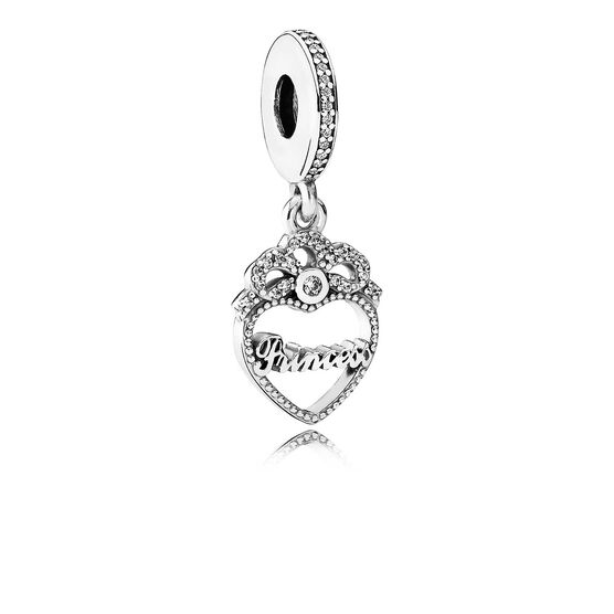 PANDORA Princess Crown Heart CZ Charm