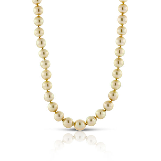 Cultured Golden South Sea Pearl Strand 10-12mm, 18K