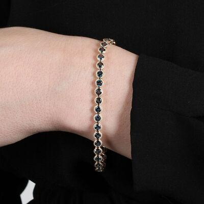 London Blue Topaz Tennis Bracelet 14K
