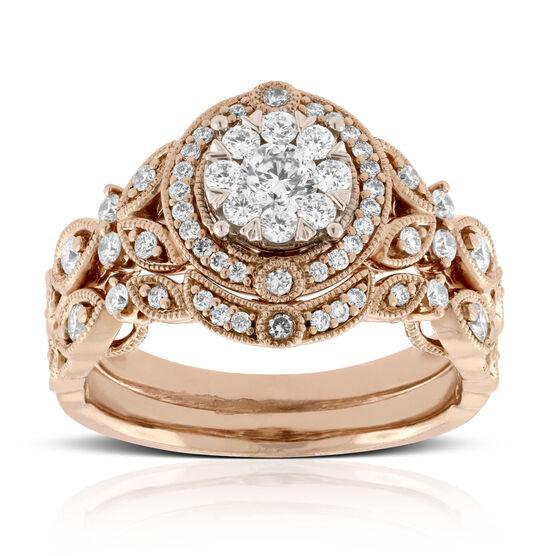 Rose Gold Love Eternal Bridal Set 14K