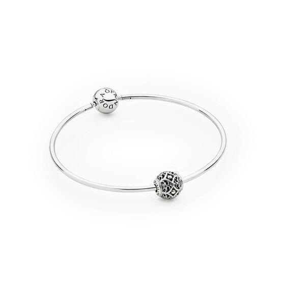 PANDORA ESSENCE Bangle Bracelet with AFFECTION Charm