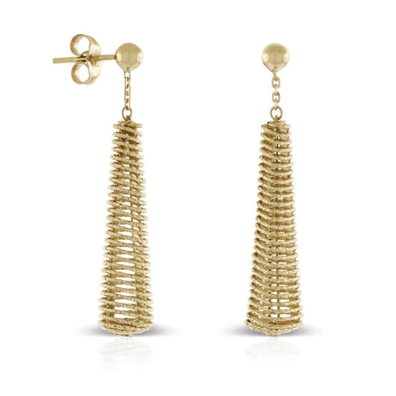 Toscano Coiled Drop Earrings 14K