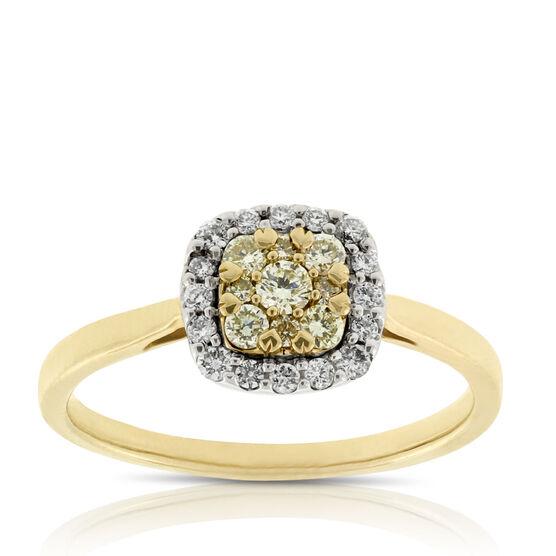 Yellow Diamond Ring 14K