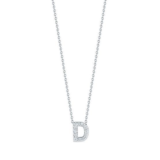 Roberto Coin Tiny Treasures Diamond Initial Pendant 18K Letter 'D'