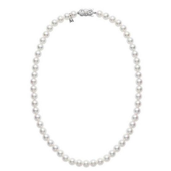 "Mikimoto Akoya Cultured Pearl Strand, 7mm, A1, 16"", 18K"