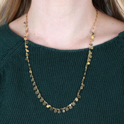 Mirror Multi-Disc Dangle Necklace 14K