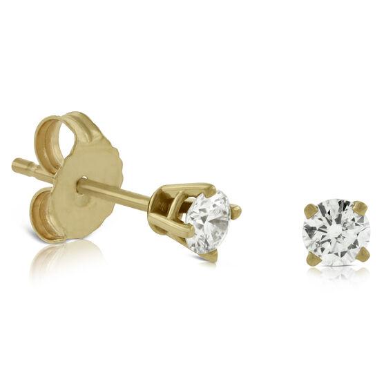 Classic Diamond Earrings, 14K 1/4 ctw.