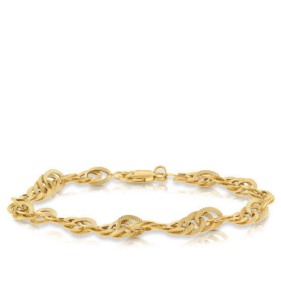 Toscano Interlocking Curb Chain Bracelet 14K
