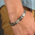 Stainless Steel Diamond Bracelet