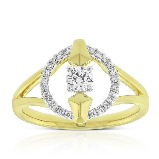 Jade Trau for Signature Forevermark Open Circle Diamond Ring 18K