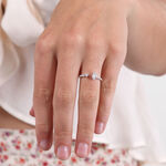 Diamond Open Shank Ring 14K