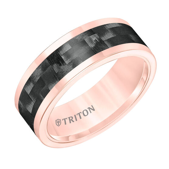 TRITON Rose Tungsten & Carbon Fiber Band