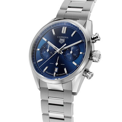 TAG Heuer Carrera Heuer 02 Automatic Mens Blue Steel Chronograph Watch