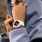G-Shock White Resin Black Dial Pink Metallic Detailed Watch, 49mm