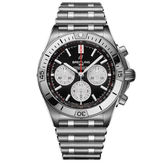 Breitling Chronomat B01 42 Black Steel Watch, 42mm