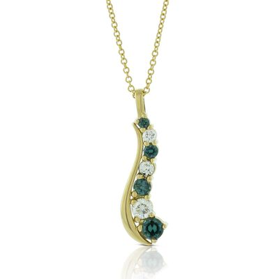 Alexandrite & Diamond Necklace 18K