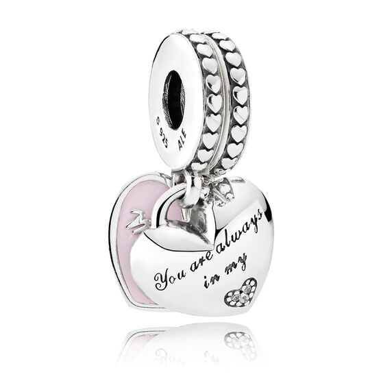 Pandora Mother Amp Daughter Hearts Enamel Amp Cz Dangle Charm