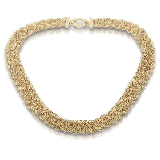 Toscano Braided Five-Strand Necklace 18K