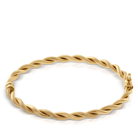 Toscano Twisted Rope Bangle Bracelet 14K